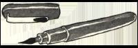 Drawing of the Pentel Pocket Brush Pen