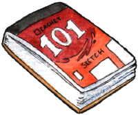 Drawing of the Cachet 101 Sketch Pad by Daler-Rowney