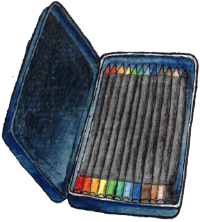 Drawing of the Faber-Castell Art Grip Colored Pencils
