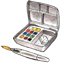 Drawing of the Koi® Watercolor Pocket Field Sketch Box