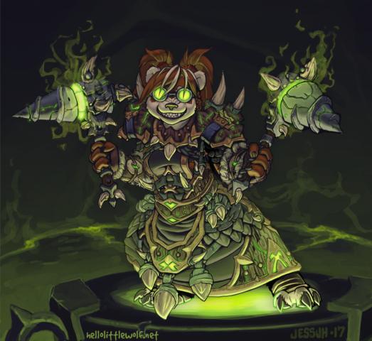 Pandaren Shaman from the game World of Warcraft