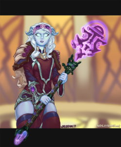 Magickal, a Draenei Priest from the game World of Warcraft